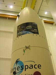 Ariane fairing - progress is being made! Credits: ESA/C Beskow