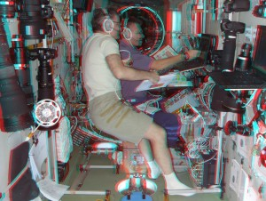 3D: With Alex, rehearsing ATV-2 docking procedures in Zvezda