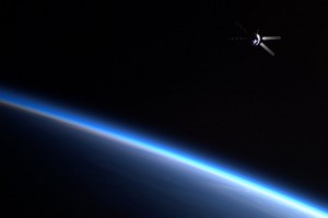ATV-2 as it departs ISS against the backdrop of our beautiful planet. Credit: NASA via Twitpic