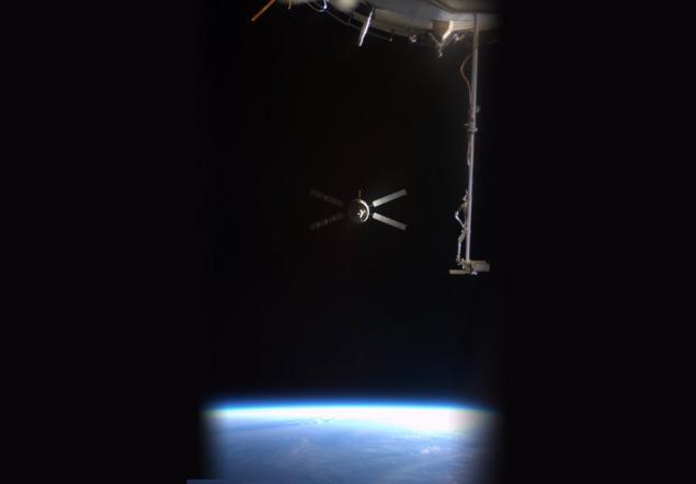 ATV Johannes Kepler undocking. Credit: Roscosmos