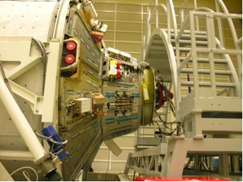 ATV3: Hatch & docking assembly seen from exterior. Credit: ESA