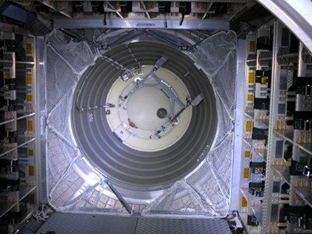 ATV3: Interior hatch seen from inside ATV. Credit: ESA