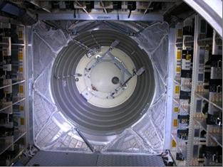 ATV3: Interior hatch seen from inside ATV. Credit: ESA