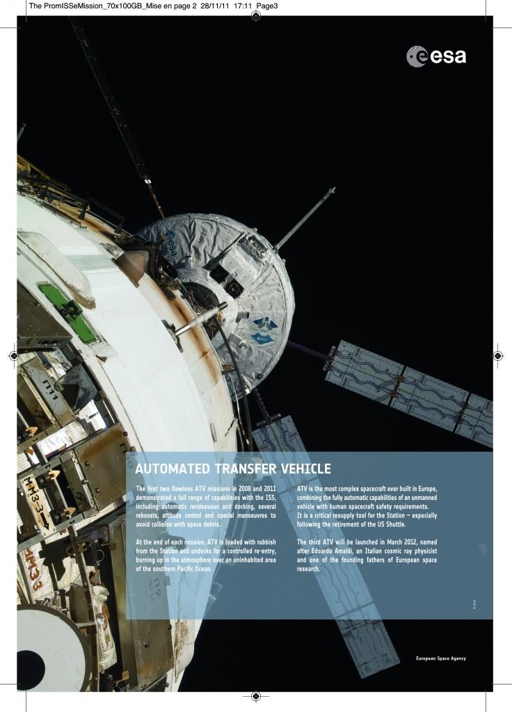 ATV during the PromISSe mission 2012 Credit: ESA