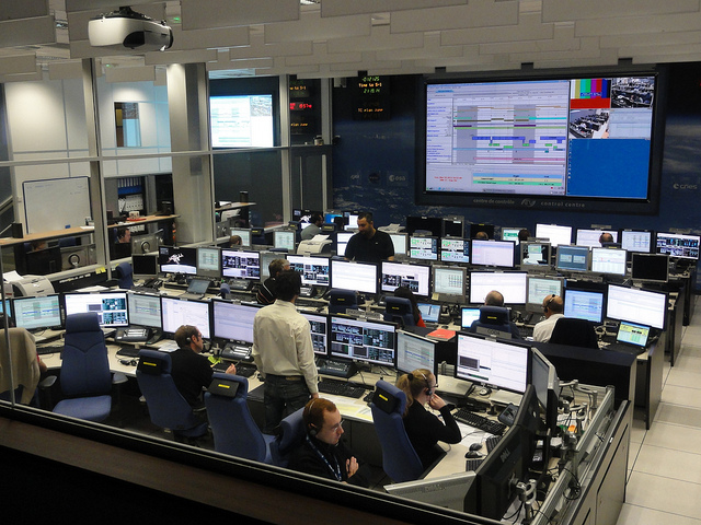 ATV-3 rendezvous simulation 23 February 2012. Last operational simulation before launch. Credit: CNES