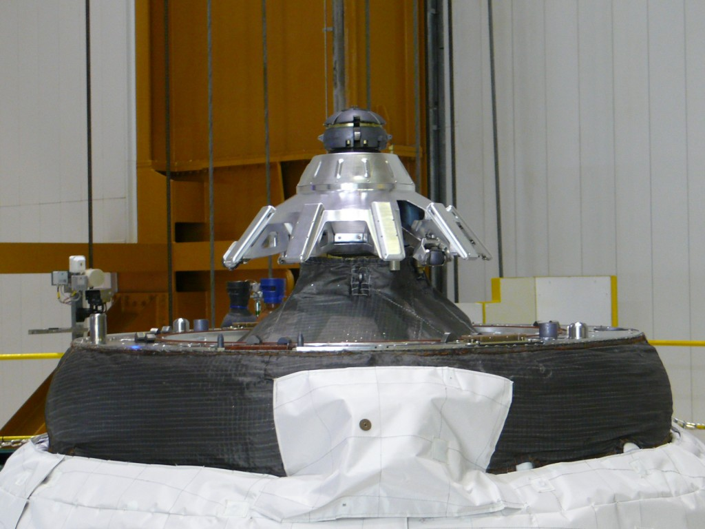 One of the final views on Earth of the ATV-3 nose cone Credit: ESA/A. Novelli