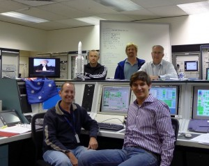 ESA team at Perth station, Australia Credit: ESA/R. Launer