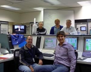 ESA team at Perth station, Australia Credit: ESA/R. Launer