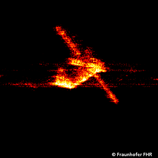 ATV-3 in orbit seen by the TIRA radar, Wachtberg, after launch on 23 March 2012 Credit/Copyright: FHR/Fraunhofer Institute for High Frequency Physics and Radar Techniques