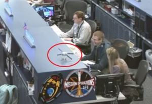 ATV seen 'on console' at NASA MCC-H Credit: NASA TV/@starlingLX