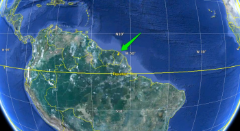 Kourou in Google Earth
