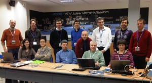 ESA's ATV-4 Engineering Support Team (EST) during first full sim for launch 4 February 2013. Credit: ESA/C. Beskow