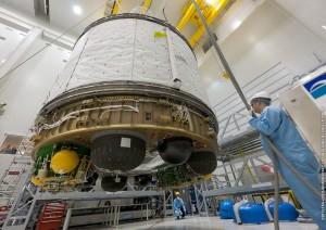 VA213 re-mating at S5C Credit: ESA/CNES/Arianespace/Optique Video du CSG