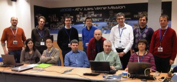Some of the Engineering Support Team (EST) members before the simulation started Credit: ESA/C. Beskow