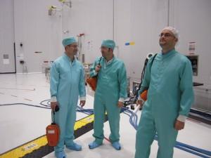 The team is ready. Credit: ESA/C. Beskow