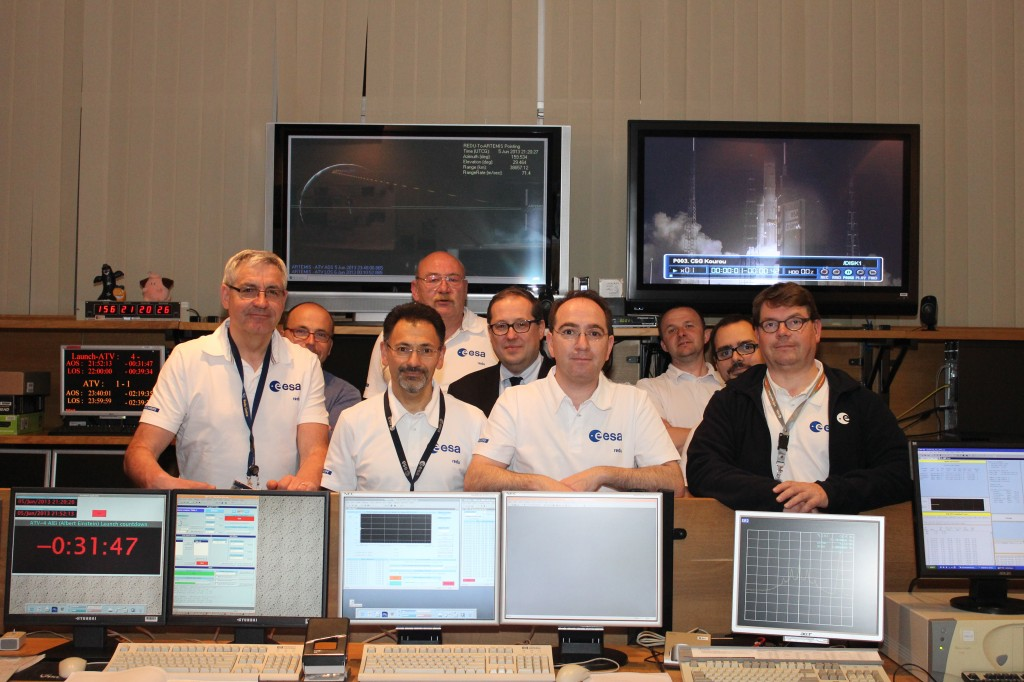 ESA team at Redu Centre for ATV-4 launch. Credit: ESA