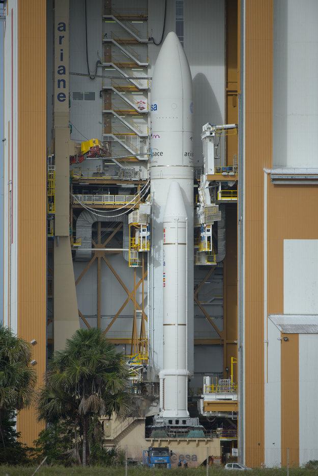 Ariane 5 in the BAF Credit: ESA–S. Corvaja, 2013