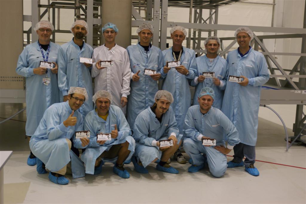 ATV-4 Cargo team with Change Chocolate