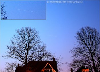 ATV-3 captured by Marco Langbroek just 20 minutes after launch in the deep morning twilight of 23 March 2012.