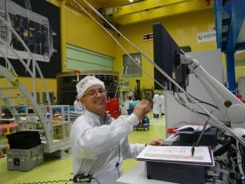 ATV-5 live connection test at Astrium Bremen 3 Sep 2013 Credit: Astrium