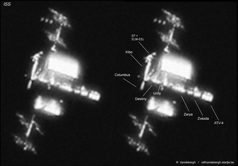 ISS & ATV-4 seen in orbit 13 August 2013