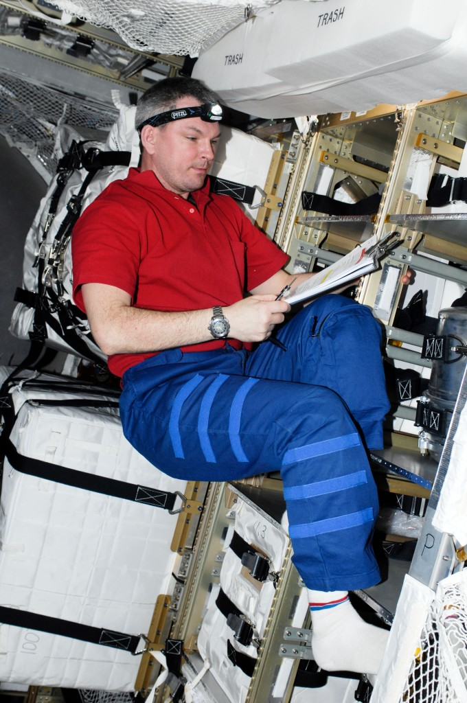 Russian cosmonaut Alexander Samokutyaev in ATV-2. Credit: ESA/NASA