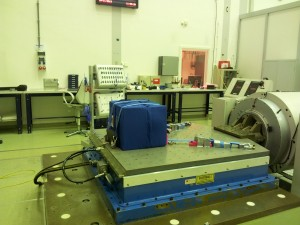 Shaker testing to ensure Haptics-1 can withstand launch on ATV-5