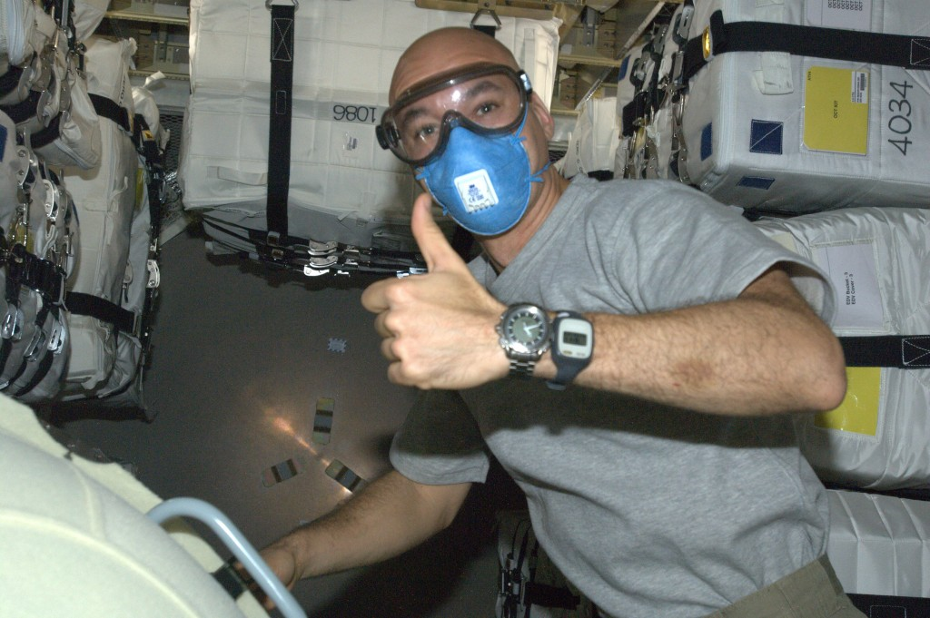 ESA astronaut Luca Parmitano confirms ATV-4 air and systems work perfectly after docking with ISS. Credits: ESA/NASA