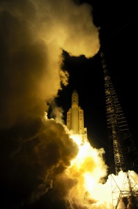 ATV-4 launch in 2013. Credit: ESA–S. Corvaja