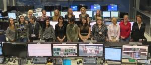 The female colleagues. Credit: ESA