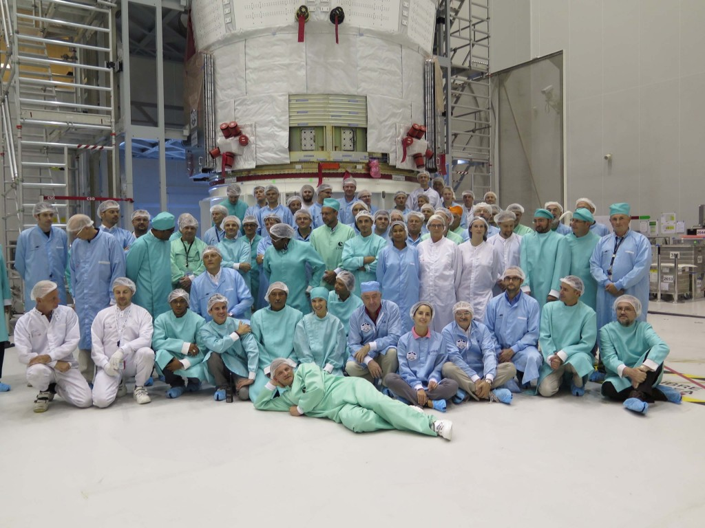 The ATV-5 team at Kourou: ESA, CNES, EADS