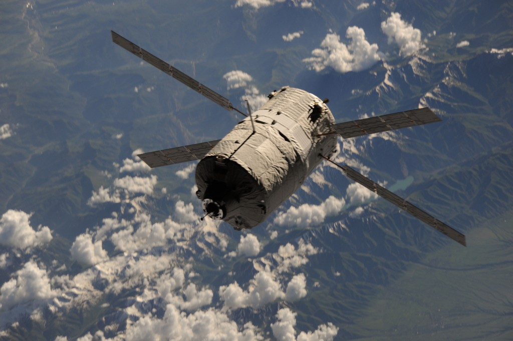 ATV-4 seen from the ISS during docking Credit: ESA/NASA