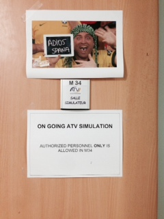The door to the Simulation Control Room at ATV-CC, Toulouse. Credit: ESA