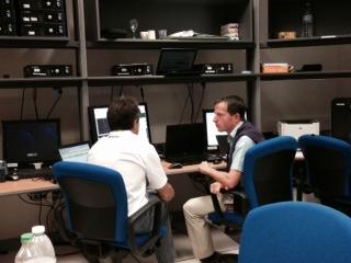 Simulation Control Room at ATV-CC. Credit: ESA