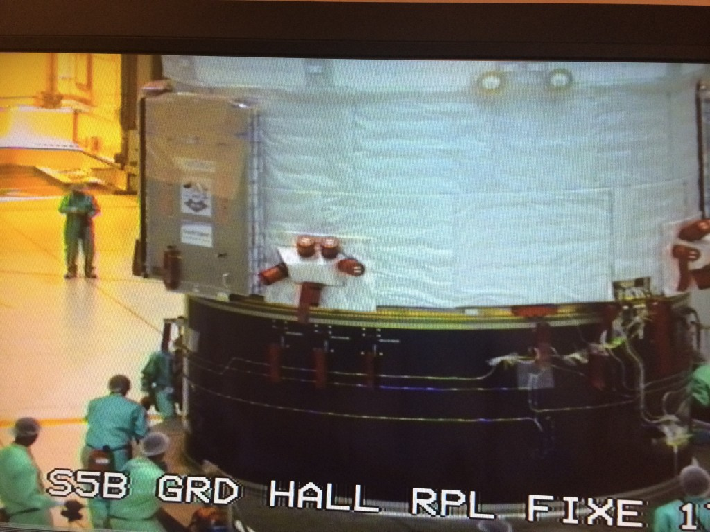 ATV-5 moves to final assembly building in Kourou on 23 June 2014. Credit: ESA