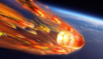Artists impression of ATV-5 breakup and reentry. Credits: ESA-D. Ducros