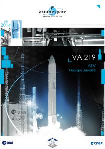 Ariane Flight VA219 with ATV-5 launch poster