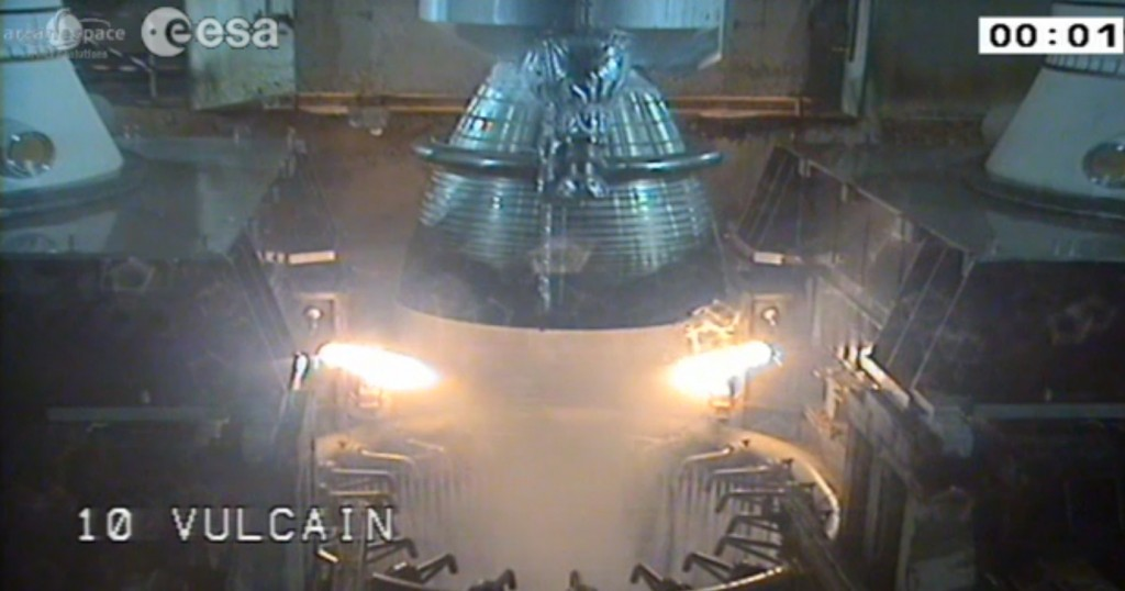 Vulcain engines igniting.