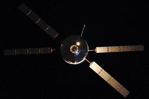 ATV-5 approaches for docking. Credit: Roscosmos/O.Artemyev