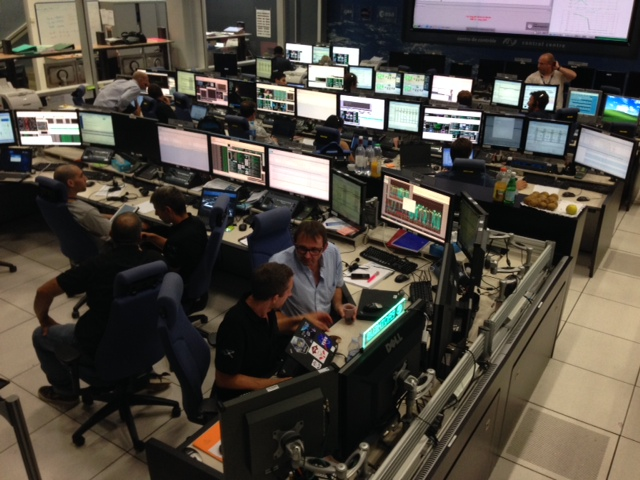 The Flight Control Team, who coordinate operations and interface with the ISS partners and command the ATV. Credit: ESA