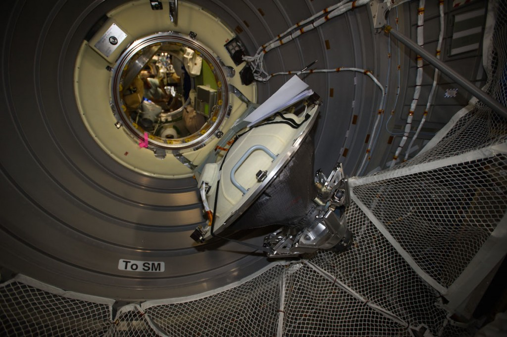 Current ATV-5 Hatch configuration, 29 August 2014. Credit: ESA/NASA
