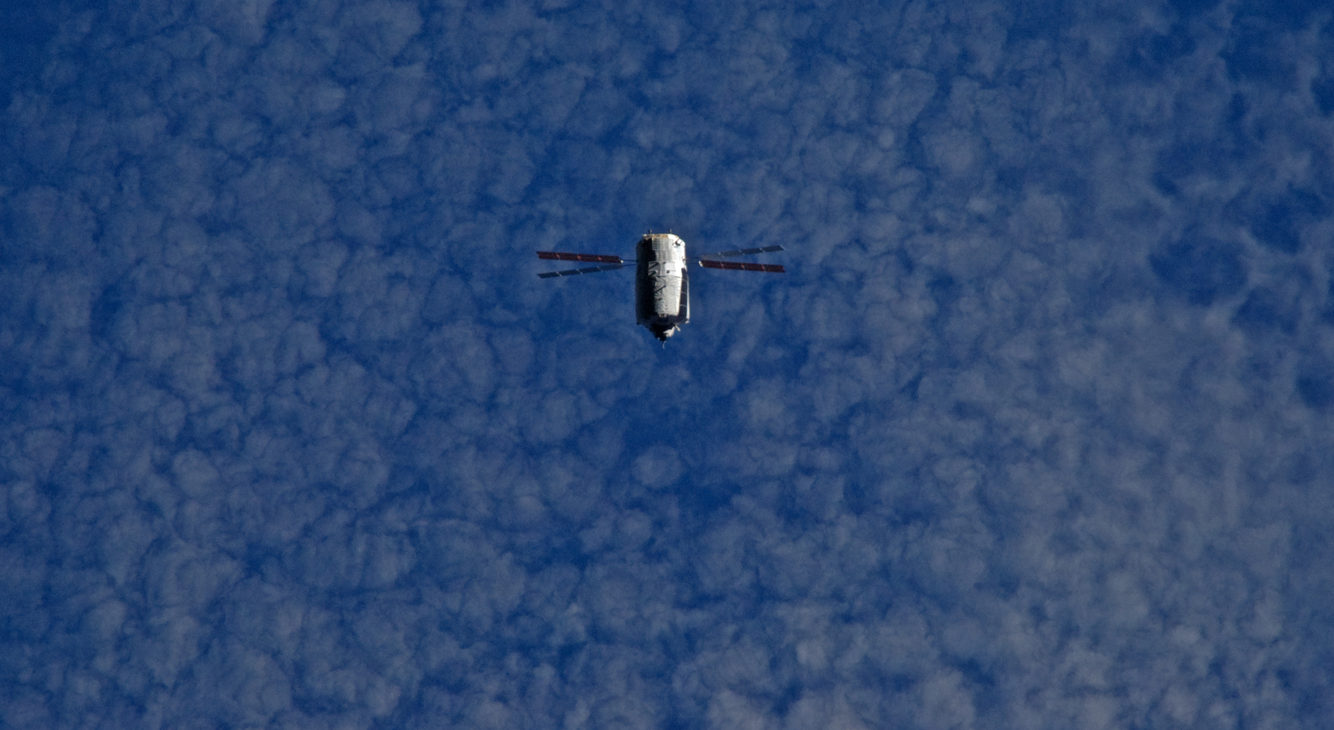 ATV-5 seen during ISS flyunder on 8 August. Credit: ESA/NASA