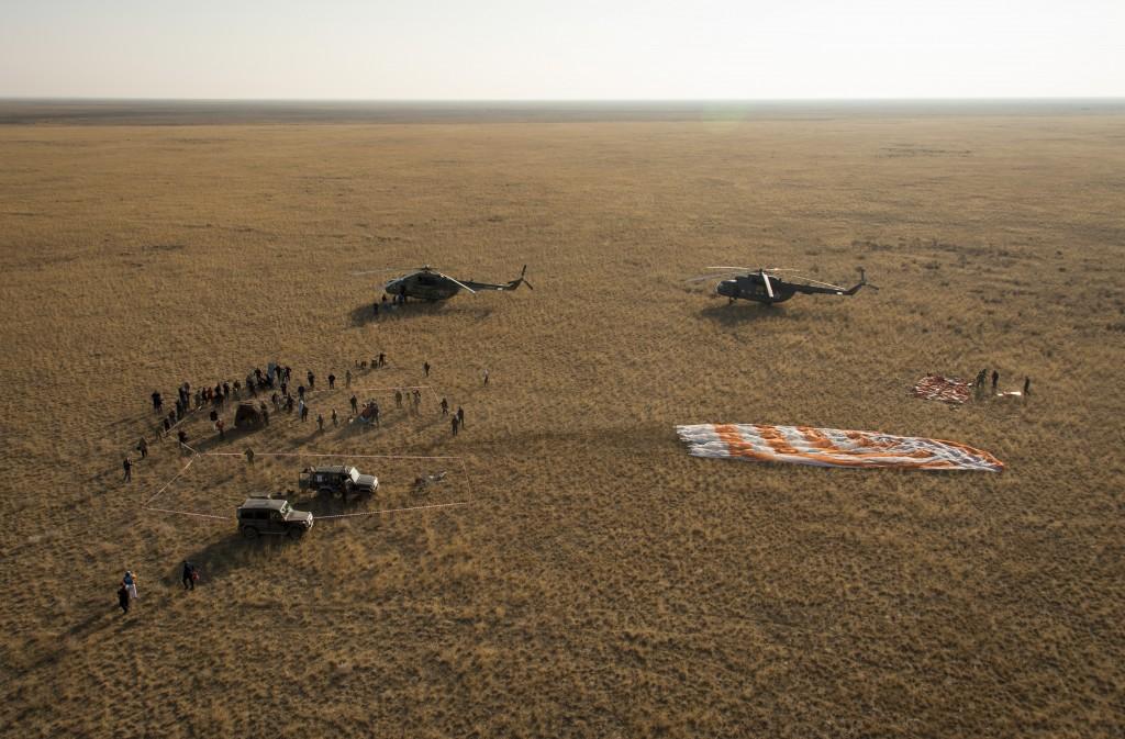 Soyuz TMA-12M landing. Credits: NASA