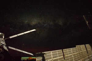 ATV-5 attached to the Station at night. Credits: ESA/NASA