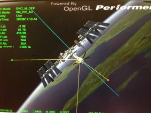 Impression of Station flying in XVV normal attitude, seen from ATV or moving away from the viewer.