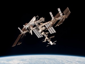 International Space Station in 2011 with ATV-2. Credits: ESA/NASA