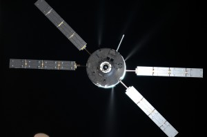 ATV-5 approaching Station in August. Credits: Roscosmos-O. Artemyev