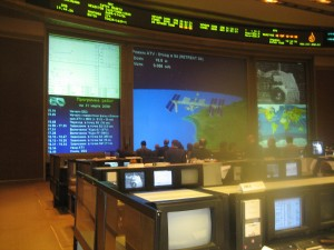 In front of the main screen observing the first-ever ATV rendezvous.