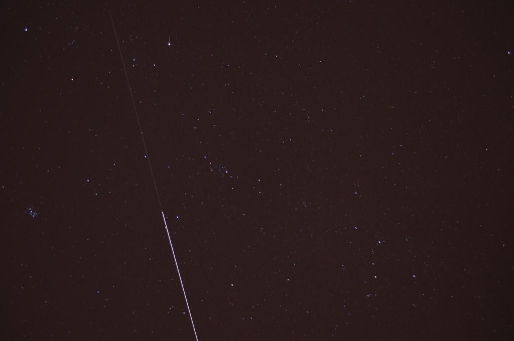 "@McNumber ""Son and I just spotted #ISS and #ATV5 above our house. Greetings from Germany!"""
