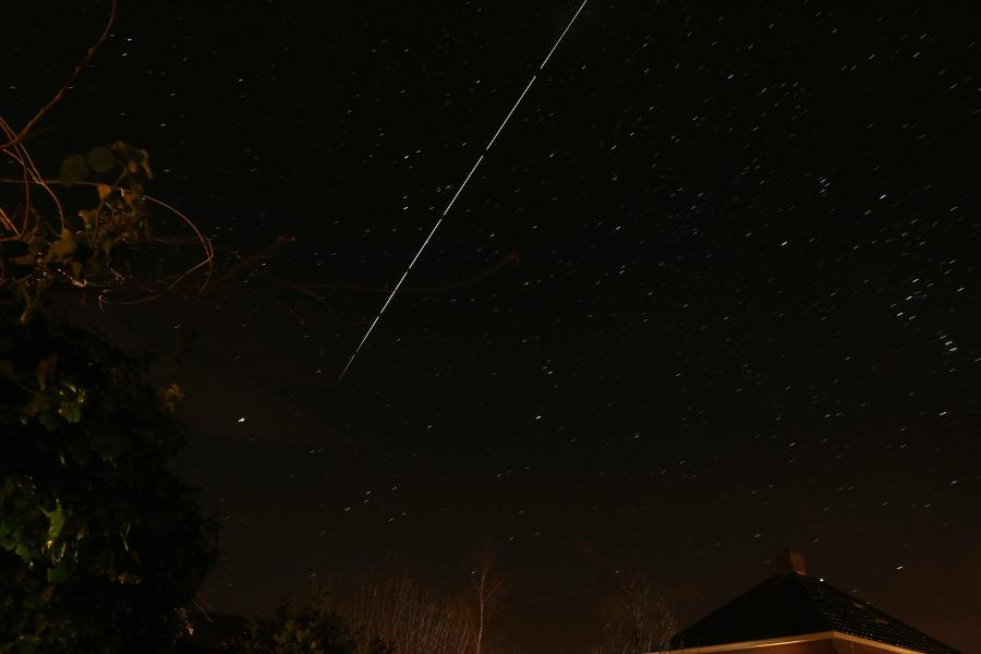 "@cgbassa ""just departed #ATV5 and #ISS passing over NL"""